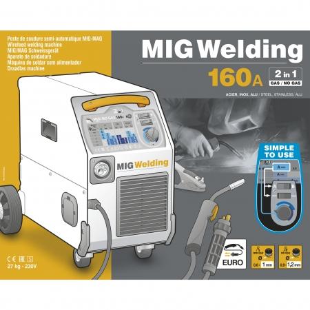 Aparat de sudura GYS 033160 Smart MIG, tehnologie MIG - MAG 160 Amperi [1]