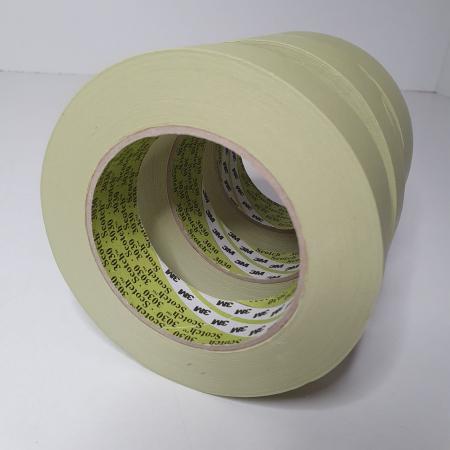 Banda mascare hartie 3M 3030 Scotch®, rezista pana la 100 °C, culoare verde, lungime 50 metri [2]