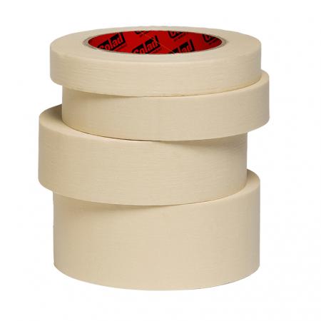 Banda mascare hartie 9075xx Premium, rezista pana la 80 °C, culoare crem, lungime 50 metri0
