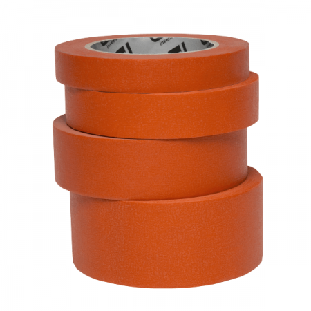 Banda mascare hartie Colad 9000xx Orange™ Masking Tape, rezista pana la 100 °C, culoare portocaliu, lungime 50 metri0