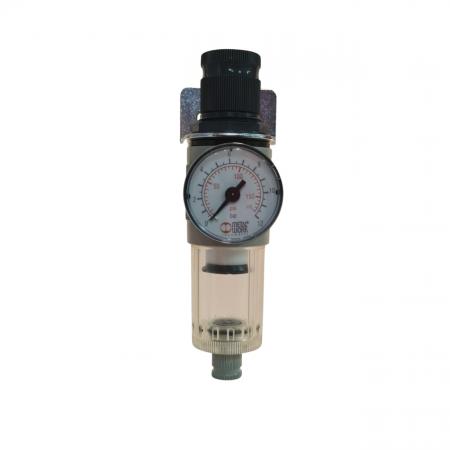 Baterie filtrare aer comprimat, MW A100, filtrare aer vopsitorie cu regulator, baterie 1 filtru, pana la 20 microni, debit 600 l/min [0]