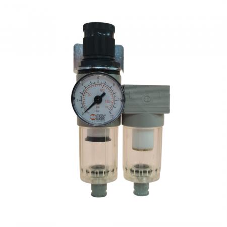 Baterie filtrare aer comprimat, MW A200, filtrare aer vopsitorie cu regulator, baterie 2 filtre, pana la 0.01 microni, debit 250 l/min [0]