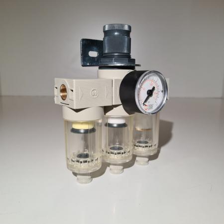 Baterie filtrare aer comprimat, MW A300, filtrare aer vopsitorie cu regulator, baterie 3 filtre, pana la 0.01 microni, debit 200 l/min [2]