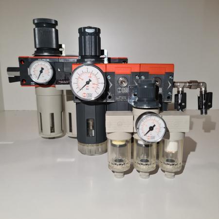 Baterie filtrare aer comprimat, MW A300, filtrare aer vopsitorie cu regulator, baterie 3 filtre, pana la 0.01 microni, debit 200 l/min [6]