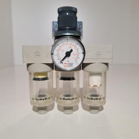Baterie filtrare aer comprimat, MW A300, filtrare aer vopsitorie cu regulator, baterie 3 filtre, pana la 0.01 microni, debit 200 l/min [5]