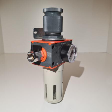 Baterie filtrare aer comprimat, MW D100, filtrare aer vopsitorie cu regulator, baterie 1 filtru, pana la 20 microni, debit 5600 l/min [2]