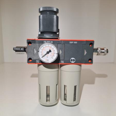 Baterie filtrare aer comprimat, MW D200, filtrare aer vopsitorie cu regulator, baterie 2 filtre, pana la 0.01 microni, debit 1100 l/min [4]