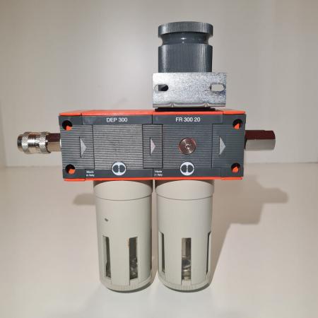 Baterie filtrare aer comprimat, MW D200, filtrare aer vopsitorie cu regulator, baterie 2 filtre, pana la 0.01 microni, debit 1100 l/min [3]