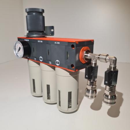 Baterie filtrare aer comprimat, MW D300, filtrare aer vopsitorie cu regulator, baterie 3 filtre, pana la 0.003 microni cu carbon activ, debit 950 l/min [4]