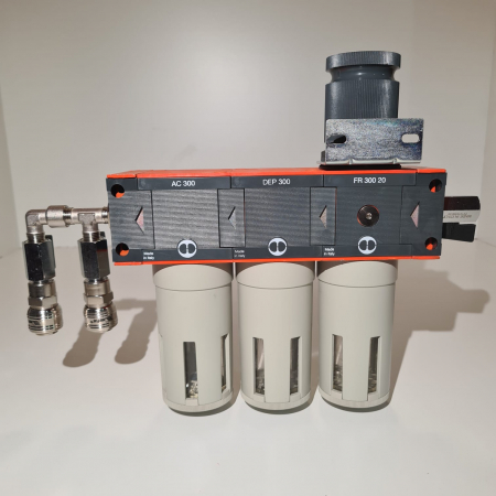 Baterie filtrare aer comprimat, MW D300, filtrare aer vopsitorie cu regulator, baterie 3 filtre, pana la 0.003 microni cu carbon activ, debit 950 l/min [3]