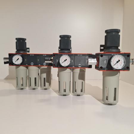 Baterie filtrare aer comprimat, MW D300, filtrare aer vopsitorie cu regulator, baterie 3 filtre, pana la 0.003 microni cu carbon activ, debit 950 l/min [5]
