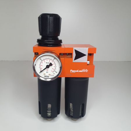 Baterie filtrare aer, DeVilbiss FLRC-1, filtrare aer cu regulator, baterie 2 filtre, pana la 0.01 microni [2]