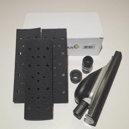 Bloc de slefuit manual, Finixa SAB 35, velcro cu aspirare, maner ergonomic, 4 adaptoare forme diferite, dimensiune 70mm x 198mm [4]