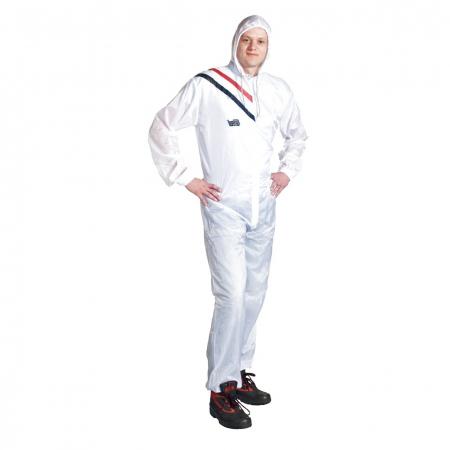 Combinezon protectie reutilizabil, Colad 5100xx Nylon comfort, culoare alba, cu gluga, material antistatic [0]