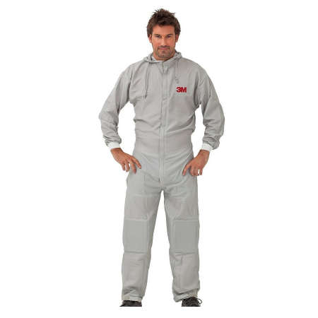 Combinezon protectie impermeabil, 3M™ 50425, cu gluga, culoare gri, difetite marimi, foarte rezistent, fără scame pentru uz general0