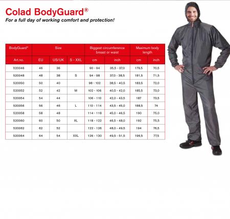 Combinezon protectie reutilizabil, Colad 5200xx BodyGuard® Premium comfort, culoare gri, cu gluga, material antistatic [7]