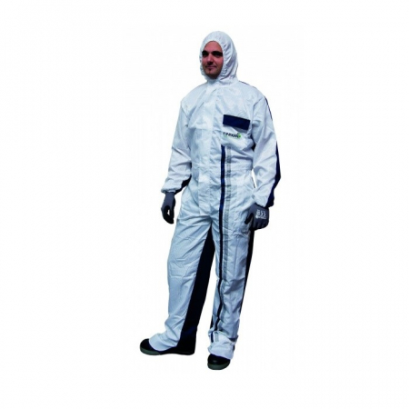 Combinezon protectie reutilizabil poliester cu gluga Finixa PHO protejaza impotriva substanțelor chimice0