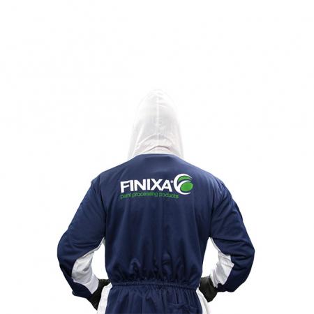 Combinezon protectie reutilizabil poliester cu gluga Finixa PHO protejaza impotriva substanțelor chimice3