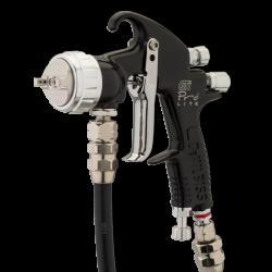 Pistol de vopsit cu prezurizare, DeVilbiss GTi Pro Lite, diferite duze, diferite capuri de aer [0]