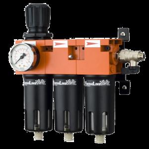 Baterie filtrare aer, DeVilbiss FLRCAC-1, filtrare aer cu regulator, baterie 3 filtre, pana la 0.003 microni cu carbon activ0