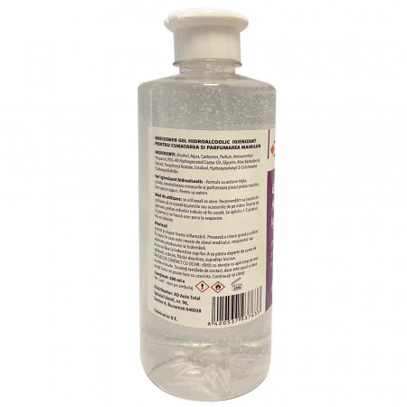 Gel HidroAlcoolic igienizant pentru maini Alcool 70% (Aloe Vera + Vitamina E) 500 ml [1]