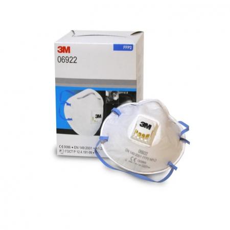 Masca protectie respiratorie 3M 6922, protectie ridicata FFP2, supapa 3M™ Cool Flow™, tip cupa1