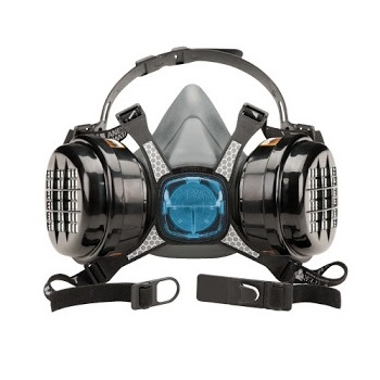 Masca protectie profesionala Anvest Iwata Viper cu filtru de carbon A2 P3 si 2 prefiltre0