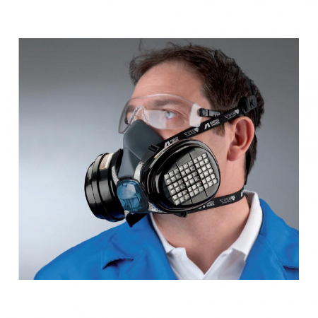 Masca protectie profesionala Anvest Iwata Viper cu filtru de carbon A2 P3 si 2 prefiltre6
