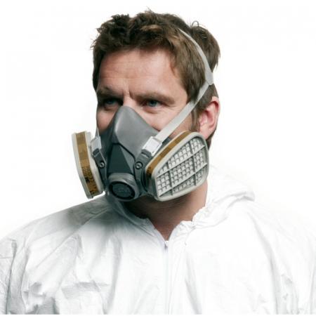 Masca protectie profesionala 3M™ 6200 Marime M, de protectie respiratorie, fara filtre (se comanda separat)2
