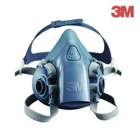Masca protectie profesionala 3M™ 7502 Marime M, de protectie respiratorie, fara filtre (se comanda separat)0