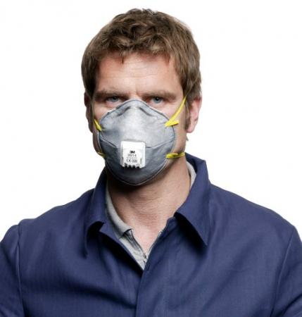 Masca particule 3M 06922 protectie FFP2 respiratorie ridicata cu supapa tip cupa [3]