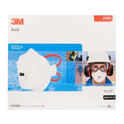 SET 10 bucati Masca protectie respiratorie 3M Aura™ 9332+, protectie ridicata FFP3, supapa 3M™ Cool Flow™ (stoc limitat)0