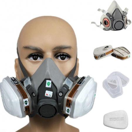 Pachet masca protectie profesionala 3M™ 6000 Series cu filtre A1 si prefiltre P1 incluse (pachet complet)0