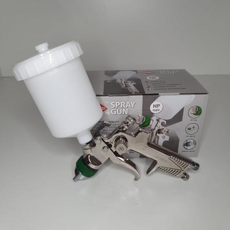 Pistol de vopsit, Airpress 45103 HP, cupa plastic 600 ml, duza la alegere, consum aer incepand cu 99 l/min [9]