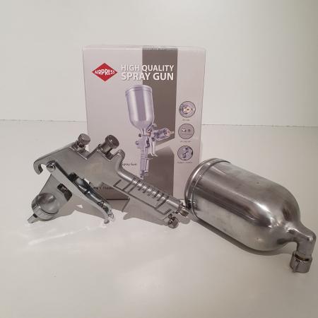 Pistol de vopsit, Airpress 45184 HP, cupa metal 400 ml, duza la alegere, consum aer incepand cu 113 l/min [3]
