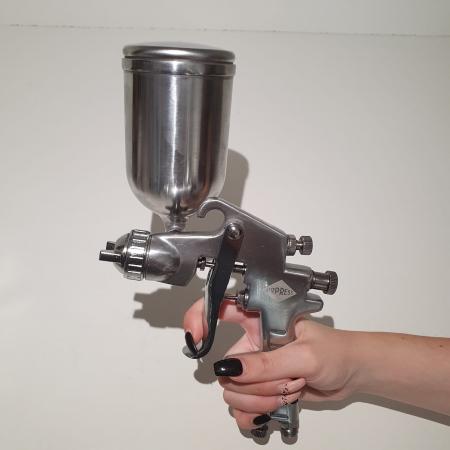Pistol de vopsit, Airpress 45184 HP, cupa metal 400 ml, duza la alegere, consum aer incepand cu 113 l/min [5]