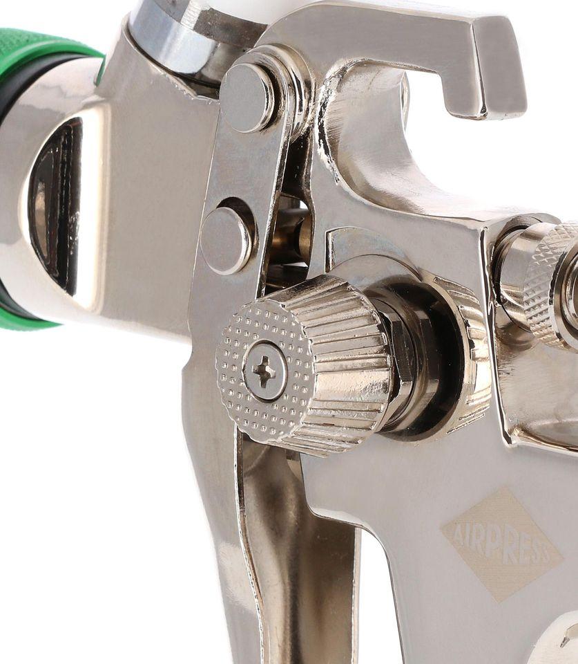 Pistol de vopsit, Airpress 45103 HP, cupa plastic 600 ml, duza la alegere, consum aer incepand cu 99 l/min [3]