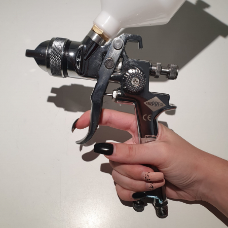 Pistol de vopsit, Airpress 45191 HP, cupa plastic 600 ml, duza la alegere, consum aer incepand cu 70 l/min [5]