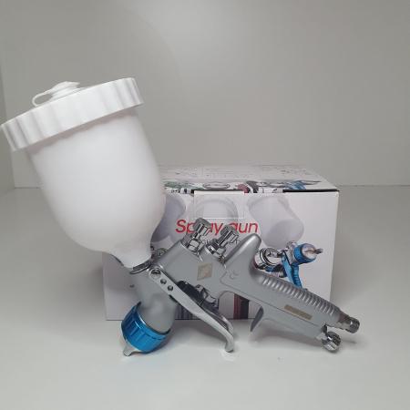 Pistol de vopsit, Airpress 45194 LVMP, cupa plastic 600 ml, duza la alegere, consum aer incepand cu 114 l/min [12]