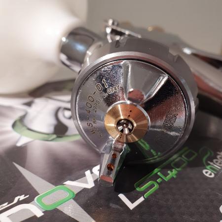 Pistol de vopsit, Anest Iwata Pininfarina WS-400 Evo Base, Pro Kit - cutie carton, cana 600 ml [6]