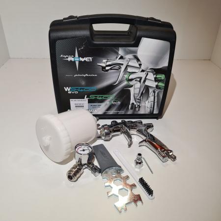 Pistol de vopsit Anest Iwata Pininfarina WS-400 Evo Clear, Master Kit - valiza, cana 600 ml, regulator presiune AFV-2 [2]