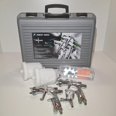 Pistol de vopsit, Anest Iwata SuperKit, 2 x Supernova WS400 Evo Clear 1.3 mm + LS400 Evo Base 1.3 mm [3]