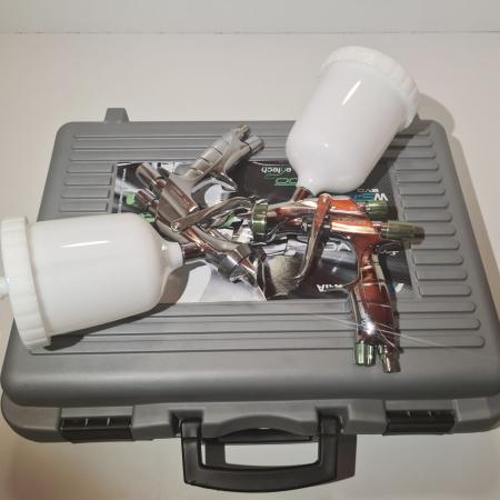 Pistol de vopsit, Anest Iwata SuperKit, 2 x Supernova WS400 Evo Clear 1.3 mm + LS400 Evo Base 1.3 mm [6]