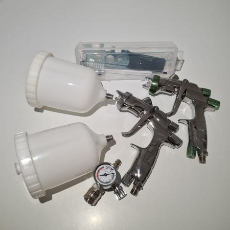 Pistol de vopsit, Anest Iwata, SuperKit 2 x Supernova WS400 Evo Clear HD 1.3 mm + LS400 Entech ETS 1.3 mm [5]