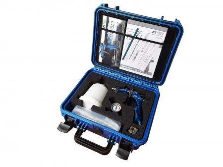 Pistol de vopsit Anest Iwata Pininfarina TurnPike Hakone pachet Master Kit, duza ø 1,3 mm, cana 600 ml, regulator presiuneAFV-22
