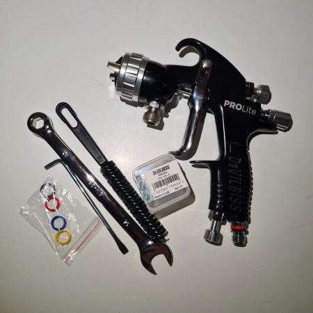 Pistol de vopsit cu prezurizare, DeVilbiss GTi Pro Lite, diferite duze, diferite capuri de aer [3]