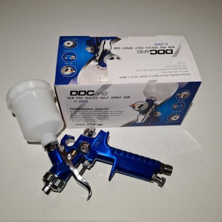 Pistol de vopsit pentru retus, DD Cars MINI H-2000, consum aer 90 - 140 l/min, cana 125 ml [3]