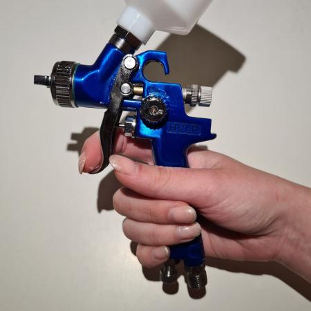 Pistol de vopsit pentru retus, DD Cars MINI H-2000, consum aer 90 - 140 l/min, cana 125 ml [5]