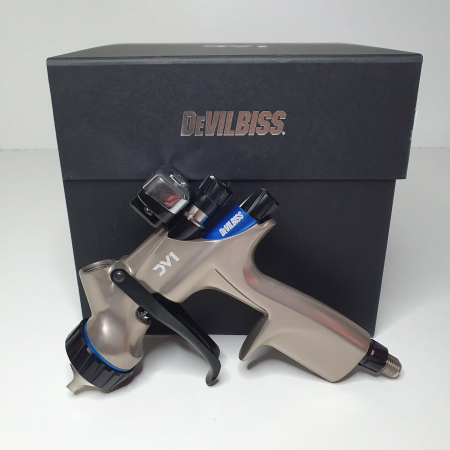 Pistol de vopsit DeVilbiss DV1 VOPSEA (DIGITAL), cupa plastic 600 ml, duza la alegere, consum aer incepand cu 300 l/min [9]
