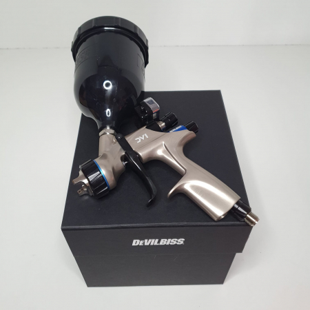 Pistol de vopsit DeVilbiss DV1 VOPSEA (DIGITAL), cupa plastic 600 ml, duza la alegere, consum aer incepand cu 300 l/min [11]